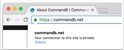 CommandB.net | Chrome HTTPS