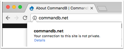 CommandB.net | Chrome - No HTTPS