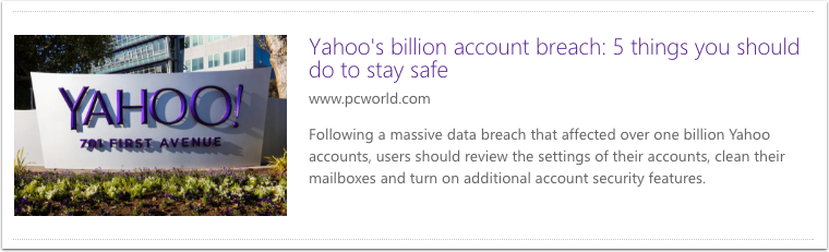 Yahoo's billion account breach: five things you should do to stay safe